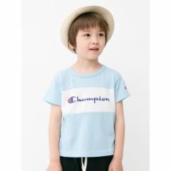 アースミュージック&エコロジー(earth music&ecology)/Champion 胸切替半袖Tシャツ