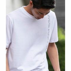 【NEW】A・S・M(A.S.M)/シンプルメッセージプリント/クルーネックTシャツ(バックプリント)