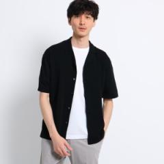 タケオキクチ(TAKEO KIKUCHI)/【PNJ】強撚ニット オープンカラーシャツ