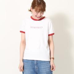 コーエン(レディース)(coen)/リサイクルコットンリンガーロゴTシャツ