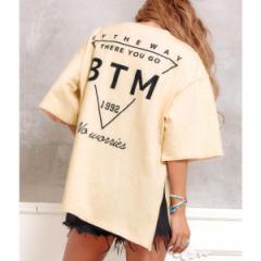 アナップ(ANAP)/ネックダメージプリントBIGTシャツ