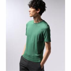 エディフィス(EDIFICE)/メンズセーター(GRANSASSO / グランサッソ ソフトコットンクルーネックニットTシャツ)