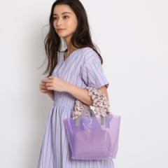 エージー バイ アクアガール(AG by aquagirl)/ポーチ付フリルハンドルクリアミニトートバッグ