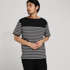 ベース ステーション(メンズ)(BASE STATION Mens)/【WEB限定】  10/?天竺 ボーダー 半袖 Tシャツ
