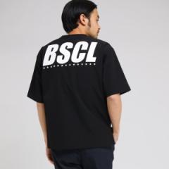 【NEW】ベース ステーション(メンズ)(BASE STATION Mens)/【WEB限定】 BSCL バックロゴ ストレッチナイロン Tシャツ