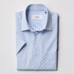 ノーリーズ メンズ(NOLLEY'S)/ドビーストライプ セミワイドカラー半袖シャツ