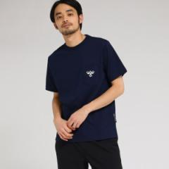 ベース ステーション(メンズ)(BASE STATION Mens)/【WEB限定】  コラボ 別注  hummel 胸ポケットグラフィック バックロゴ T…
