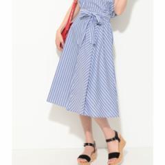 ビス(ViS)/【セットアップ対応】【EASY CARE】ストライプギャザースカート