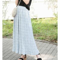 ビス(ViS)/【WEB限定】小花柄プリーツロングスカート