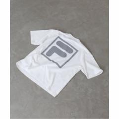 エディフィス(EDIFICE)/メンズTシャツ(FILA / フィラ 別注 ロゴ プリント Tシャツ)