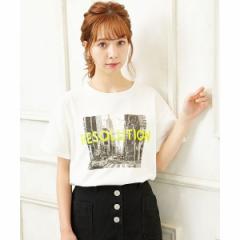 イング(INGNI)/転写+蛍光ロゴTシャツ