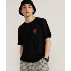 ウィゴー(メンズ)(WEGO)/ローズワンポイントTシャツ