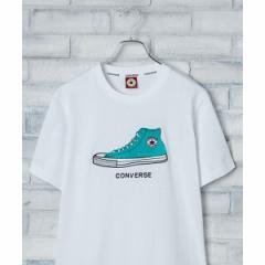 ウィゴー(メンズ)(WEGO)/コンバース別注サガラシューズ刺繍Tシャツ