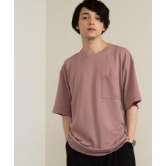 ウィゴー(メンズ)(WEGO)/ポンチサイドスリットTシャツ
