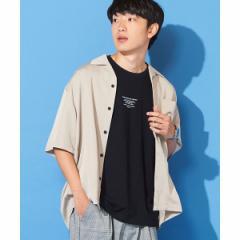 【NEW】ウィゴー(メンズ)(WEGO)/フィブリルオープンカラーシャツ