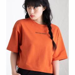 ウィゴー(レディース)(WEGO)/バックベルトロゴショートTシャツ