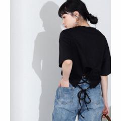 ウィゴー(レディース)(WEGO)/バックレースアップTシャツ