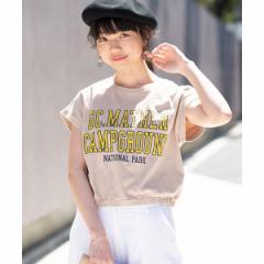 ウィゴー(レディース)(WEGO)/カレッジロゴUSAコットンTシャツ