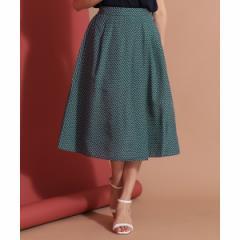 エニィスィス(any SiS)/【洗える】イレギュラータックフレア スカート