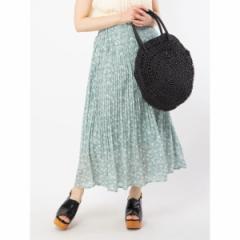 エージープラス(a.g.plus)/花プリントケシプリーツスカート