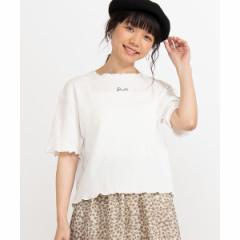 ウィゴー(レディース)(WEGO)/ロゴメロウワッフルTシャツ