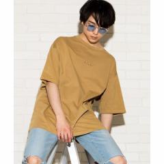 【NEW】ウィゴー(メンズ)(WEGO)/ピグメントワンポイント刺繍Tシャツ
