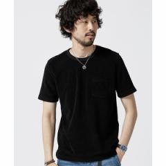 ナノ・ユニバース(メンズ)(nano universe)/【19SS】ショートリングパイルTシャツ