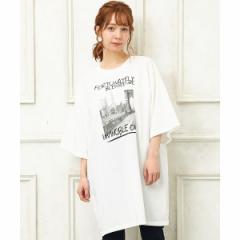 【NEW】イング(INGNI)/転写チュニックTシャツ