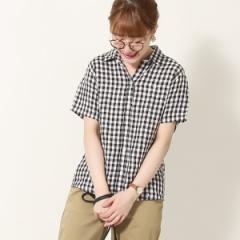 コーエン(レディース)(coen)/フレンチリネン半袖シャツ