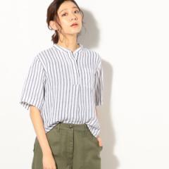 コーエン(レディース)(coen)/【『リンネル』7月号掲載】フレンチリネンバンドカラーシャツ