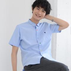 コーエン(メンズ)(coen)/クレイジーボタンオックスフォードシャツ半袖