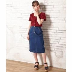 イング(INGNI)/前ボタンナロースカート
