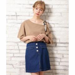 イング(INGNI)/フラップポケット前ボタン台形スカート