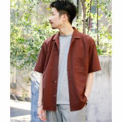 【NEW】417エディフィス(417 EDIFICE)/メンズシャツ(ドライタッチトロ オープンカラー ショートスリーブ シャツ)