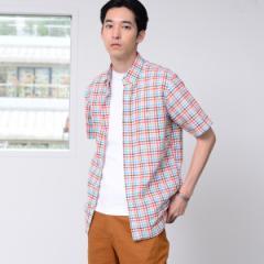 コーエン(メンズ)(coen)/綿麻チェックボタンダウンシャツ