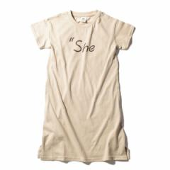 デビロック(devirock)/子供服 キッズ 韓国子供服 ロゴプリント 半袖 ワンピース 女の子 トップス 80−160