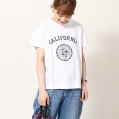 コーエン(レディース)(coen)/カレッジプリントリラックスTシャツ