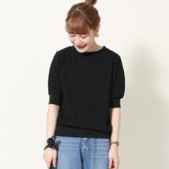コーエン(レディース)(coen)/起毛スラブ5分袖Tシャツ