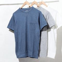 コーエン(メンズ)(coen)/ガゼットスラブ半袖ポケットTシャツ