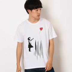 ユニオンステーション(UNION STATION)/【追加生産】プリントTシャツ『Banksy&Balloon Girl+design』