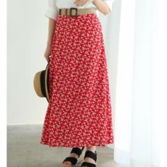 ビス(ViS)/単色花柄プリントマーメイドスカート