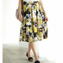 ビス(ViS)/アートフラワープリントギャザースカート