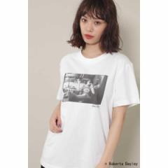 【NEW】ローズバッド(ROSE BUD)/ROBERTA BAYLEYフォトプリントTシャツ