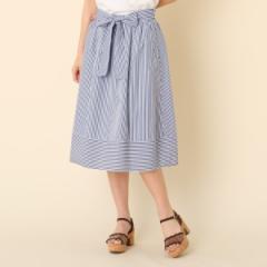 クチュールブローチ(Couture Brooch)/【洗える】ランダムストライプスカート