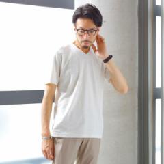 【NEW】メンズメルローズ(MEN'S MELROSE)/ミックスパイルTシャツ