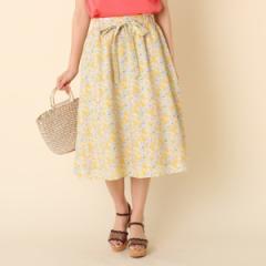 クチュールブローチ(Couture Brooch)/【WEB限定サイズ(S・LL)あり】【洗える】プチフラワーベルテッドスカート