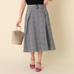 クチュールブローチ(Couture Brooch)/【WEB限定サイズ(S・LL)あり洗える】サッカーチェックスカート