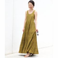 【NEW】イエナ(IENA)/レディスワンピース(MARIHA 草原の虹のドレス ノースリーブ(無地)◆)