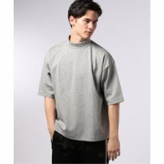【NEW】エディフィス(EDIFICE)/メンズTシャツ(LA BOUCLE / ラブークル ポンチワイド モックネック Tシャツ)