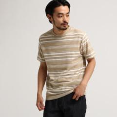 【NEW】ベース ステーション(メンズ)(BASE STATION Mens)/SB MIXJQD ボーダー半袖Tシャツ